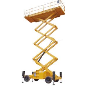 Alquiler de plataformas elevadoras y grúas en Cuenca - Plataformas Cebrián - Tijera elevadora Compact 18SX